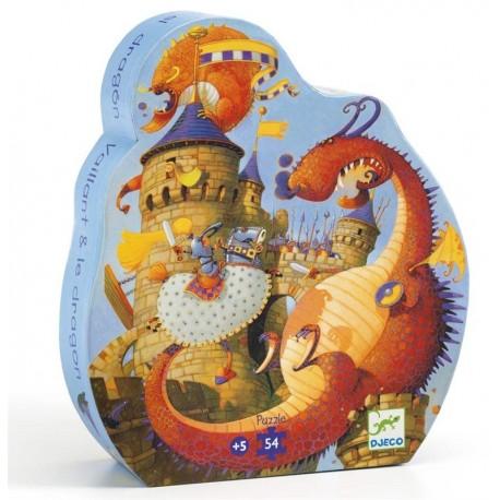 Puzle Silueta Vaillant y el Dragón