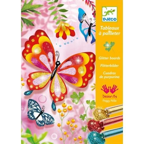 Cuadros Purpurina Mariposas