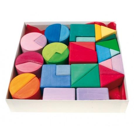 Triangulo Cuadrado Circulo Bloques Color