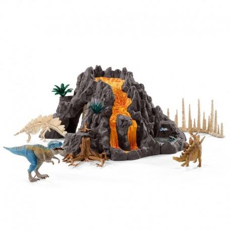 Volcán Gigante Con T Rex