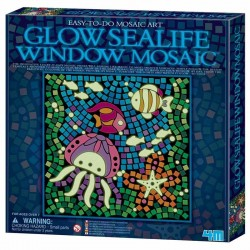 Mosaico Vida Marina Brilla en la Oscuridad