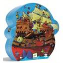 Puzzle Silueta El Barco Pirata