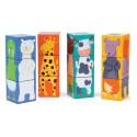 Puzzle 12 Cubos Animales De Colores