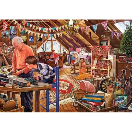 Puzzle Madera Attic Playtime
