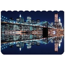 Puzzle Madera New York City At Night