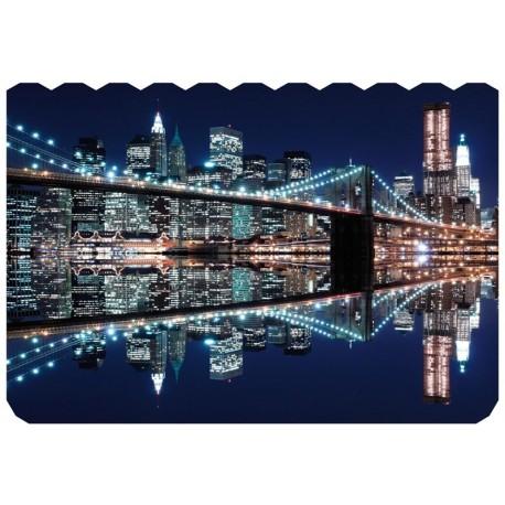 Puzzle Madera New York City At Night