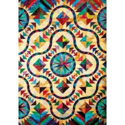 Puzzle Madera Stained Glass Quilt Pattern