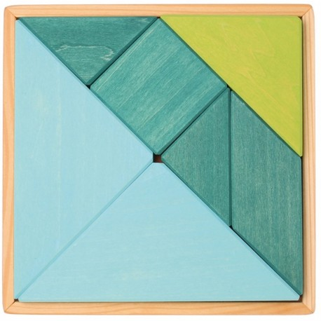 Tangram Azul/Verde Grimms