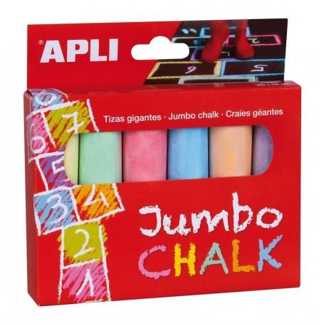 Tizas Jumbo 6 Colores