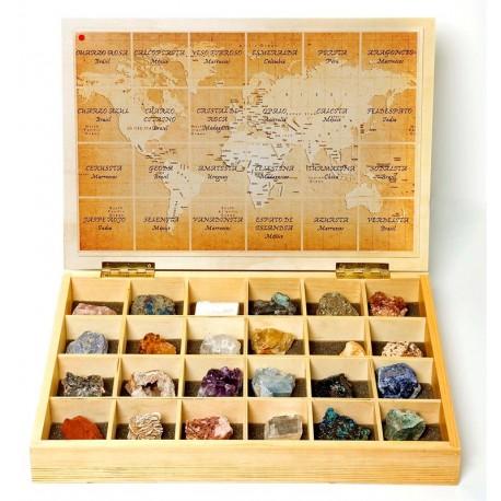 Caja de Minerales del Mundo