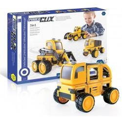 Construcción Power Clix Vehículos 55 Piezas