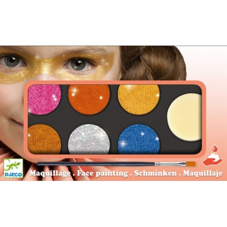 Paleta Maquillaje 6 Colores Metal