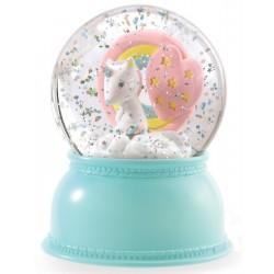 Lámpara Bola de Nieve Unicornio