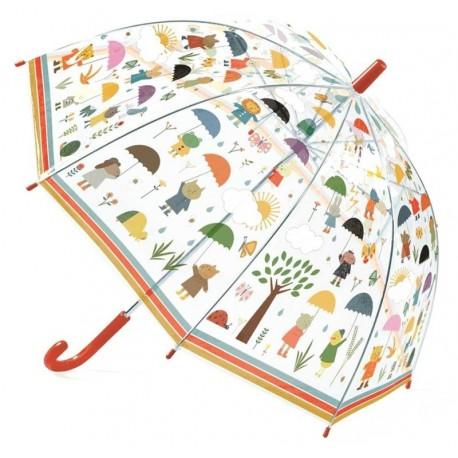 Paraguas Bajo la Lluvia