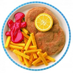 Escalope con patatas fritas