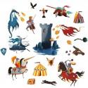 Stickers Medievales y Dragones
