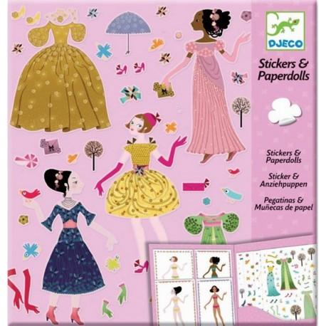 Stickers & Paperdolls Vestidos 4 Estaciones