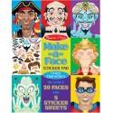 Pegatinas Maquillaje Personajes Locos