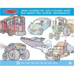 Bloc Gigante para Colorear Vehículos