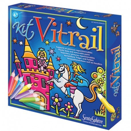 Kit Vitral Caballeros y Princesas