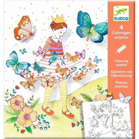 Colorea Sorpresas Lady Butterfly