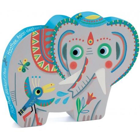 Puzzle Silueta Elefante Asiático