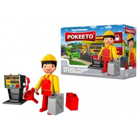 Pokeeto Midi Gasolinero + Accesorios