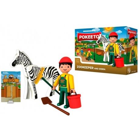 Pokeeto Midi Cuidador de Zoo + Accesorios