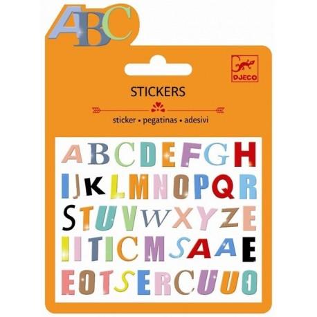 Minipegatinas Letras de Colores