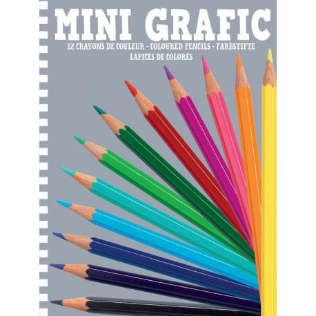 Mini Grafic 12 Lápices de Colores