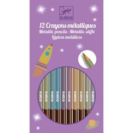 8 Lápices Metálicos