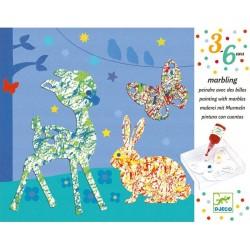 Pintar con Canicas Desfile Multicolor