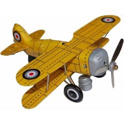Avión Metal Amarillo