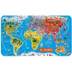 Mapa Mundi Puzzle Mundo Magnético